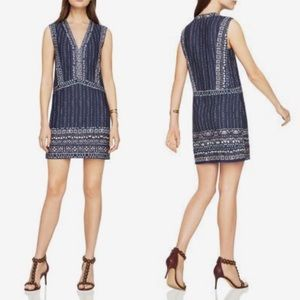 BCBGMaxAzria Bridgit V-Neck Shift Dress